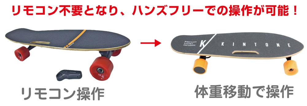 電動スケートボードはリモコン無しの時代へ